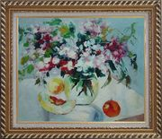 Summer Sunshine Oil Painting Flower Impressionism Exquisite Gold Wood Frame 26 x 30 inches