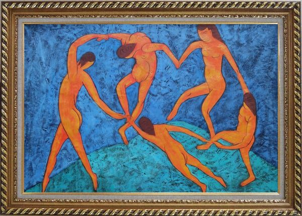 Framed La Danse, Matisse Modern Oil Painting Portraits Woman Dancer Exquisite Gold Wood Frame 30 x 42 Inches