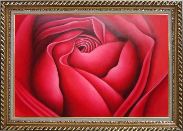 Framed The Beauty of Life Oil Painting Flower Rose Decorative Exquisite Gold Wood Frame 30 x 42 Inches