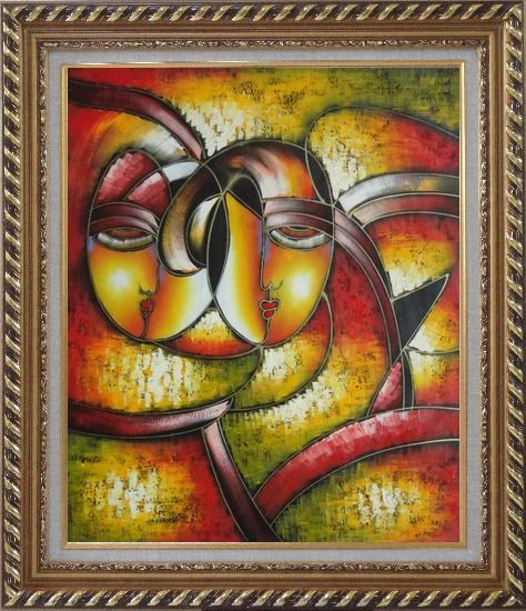 Faces picasso reproduction oil painting portraits modern for Framed reproduction oil paintings