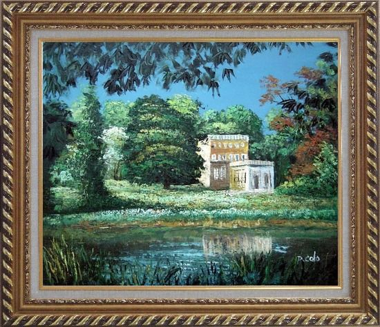 Framed Garden Inspiration Oil Painting Impressionism Exquisite Gold Wood Frame 26 x 30 Inches