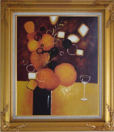 Framed Still Life Pears with Glass Oil Painting Fruit Decorative Gold Wood Frame with Deco Corners 31 x 27 Inches