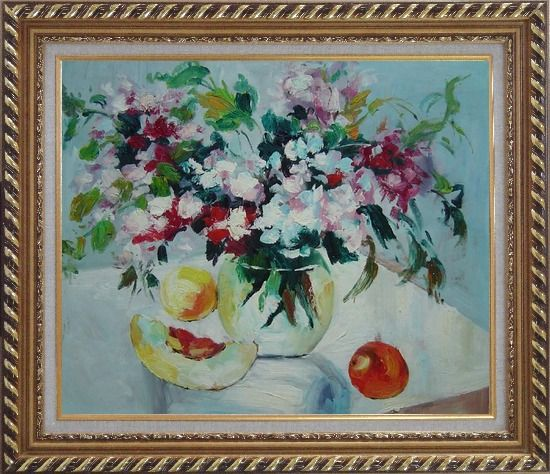 Framed Summer Sunshine Oil Painting Flower Impressionism Exquisite Gold Wood Frame 26 x 30 Inches